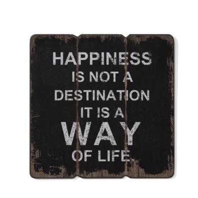 "Danya B. ""Happiness is a Way of Life"" Wooden WallArt"""