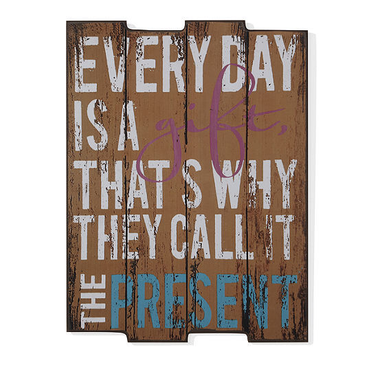 Danya B Everyday Is A Gift Wooden Wall Art