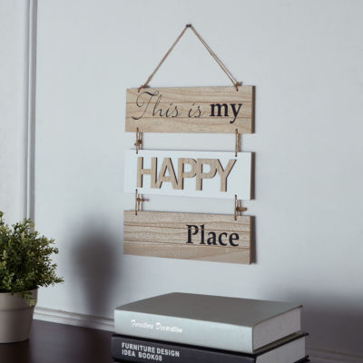"Danya B. ""This Is My Happy Place"" Sectioned WoodenWall Plaque """