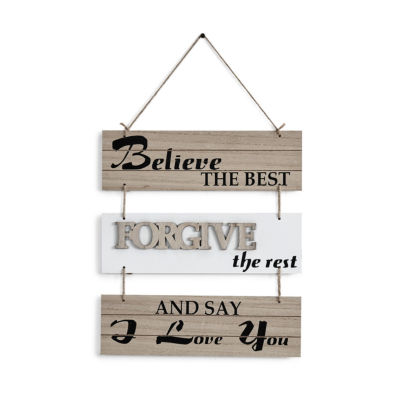 "Danya B. ""Believe the Best Forgive the Rest and Say I Love You"" Sectioned Wall Plaque"""