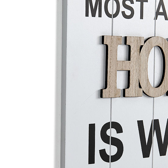 """Danya B. """"What I Love Most About My Home Is Who IShare It With"""" Wooden Wall Plaque"""