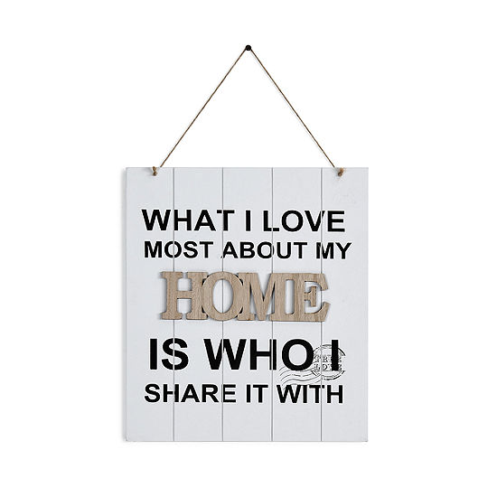 Danya B What I Love Most About My Home Is Who Ishare It With Wooden Wall Plaque
