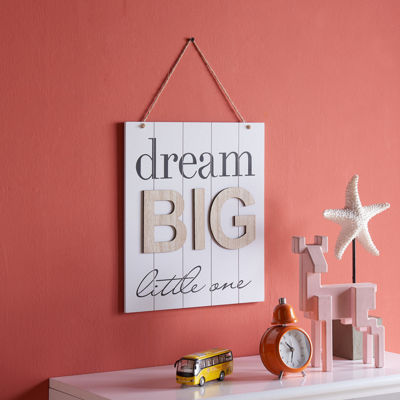 "Danya B. ""Dream Big Little One"" Wooden Wall Plaque"""
