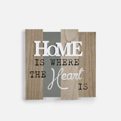 "Danya B. ""Home Is Where The Heart Is"" Wooden WallPlaque  """