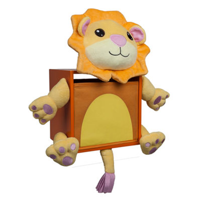 Danya B. Plush Lion Kids Wall Storage Bin