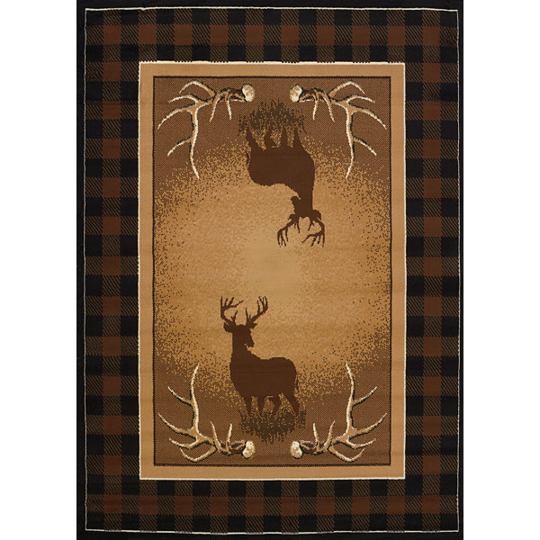 United Weavers Legends Collection Antler Buck Rectangular Rug