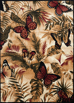 United Weavers Legends Collection Butterfly JungleRectangular Rug