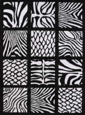 United Weavers Legends Collection Cubic Zebra Rectangular Rug