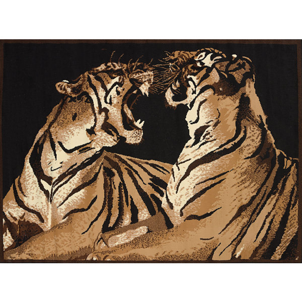 United Weavers Legends Collection Double Tiger Rectangular Rug