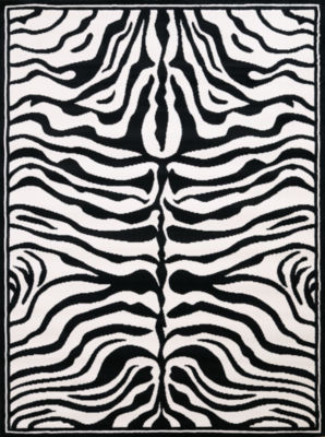 United Weavers Legends Collection Zebra Skin Rectangular Rug