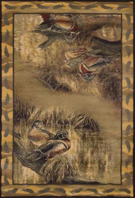 United Weavers WildWings License Designs Genesis Rosemary Millette Backwater Rectangular Rug