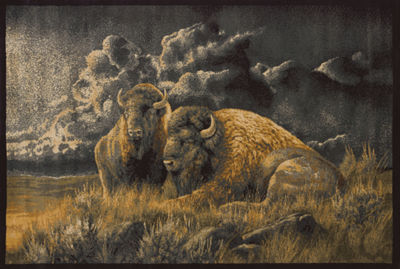 United Weavers WildWings License Designs Genesis Rosemary Millette Distant Thunder Rectangular Rug