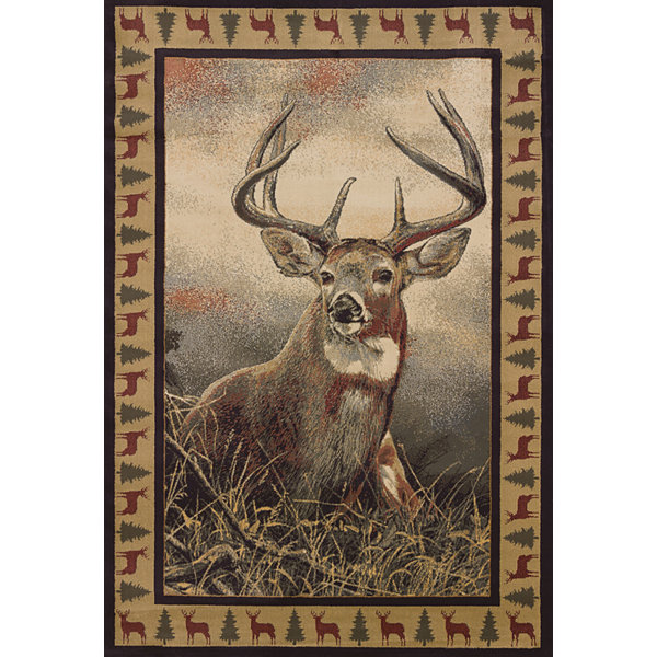 United Weavers WildWings License Designs Genesis Scot Storm Majestic White Tail Rectangular Rug