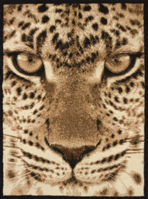 United Weavers Legends Collection Leopard Face Rectangular Rug