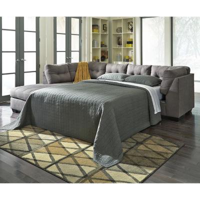 signature design by ashley mason sleeper sofa with chaise benchcraft rh jcpenney com ashley sleeper sofa queen ashley sleeper sofa mattress