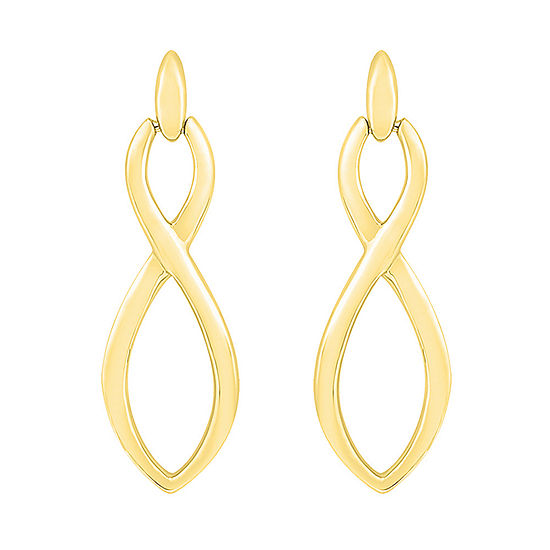 10K Gold 24.7mm Infinity Stud Earrings
