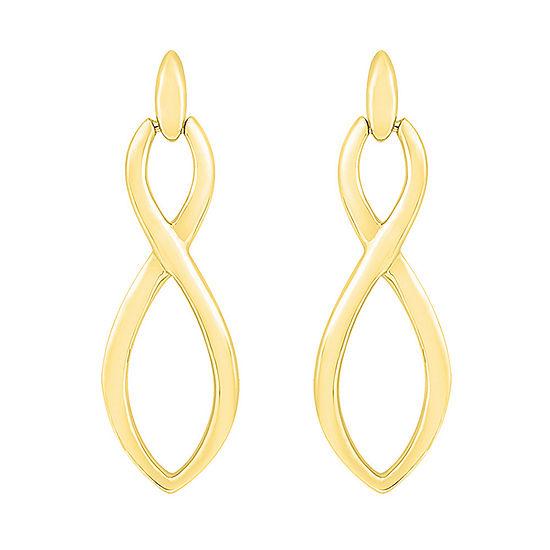 10K Gold 24.7mm Infinity Stud Earrings
