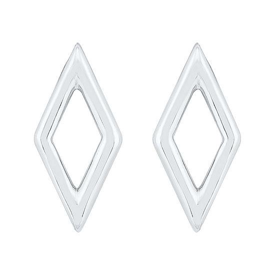 10K White Gold 11.1mm Stud Earrings