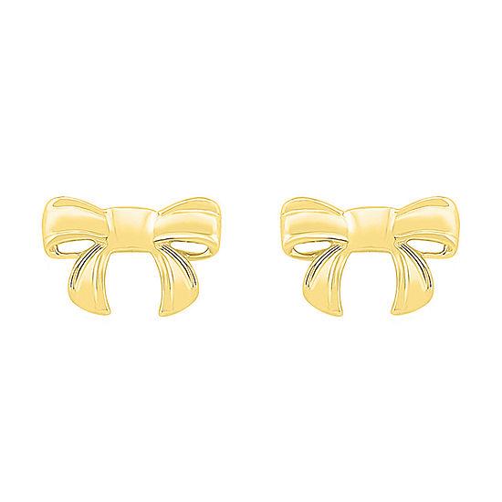10K Gold 6.9mm Knot Stud Earrings