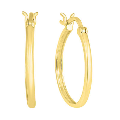 10K Gold 16.1mm Hoop Earrings