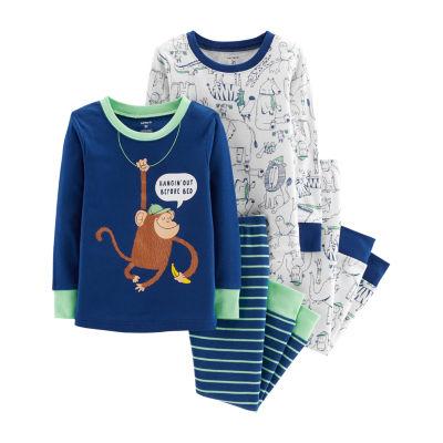 Carter's 4-Pc. Monkey Cotton Pajama Set - Toddler Boy