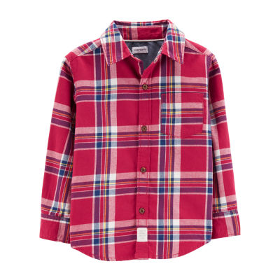 Carter's Plaid Button Front Shirt - Toddler Boy