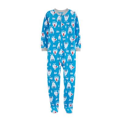 Carter's Psb Flc 1pc Boys Knit One Piece Pajama