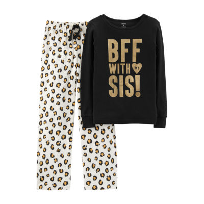Carter's Long Sleeve Top & Pant Preschool Girls 2-pc. Pant Pajama Set