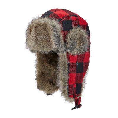 Woolrich Mens Plaid Trapper Hat