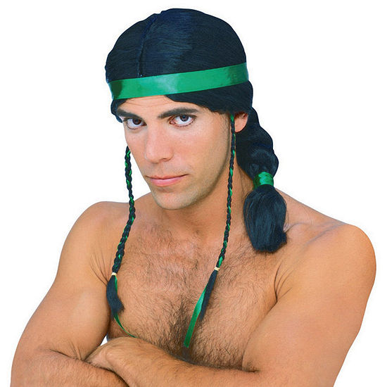 Male Indian Adult Wig Dress Up Accessory