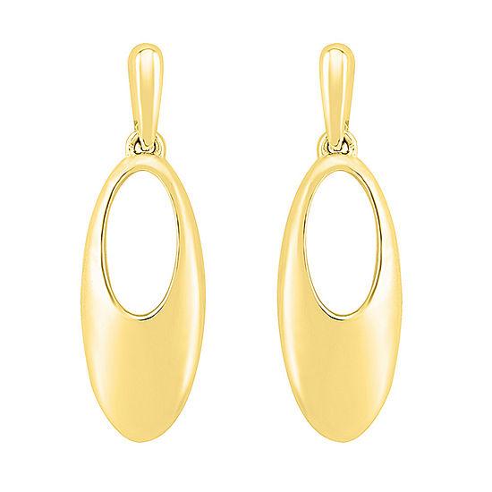 10K Gold 23.6mm Oval Stud Earrings