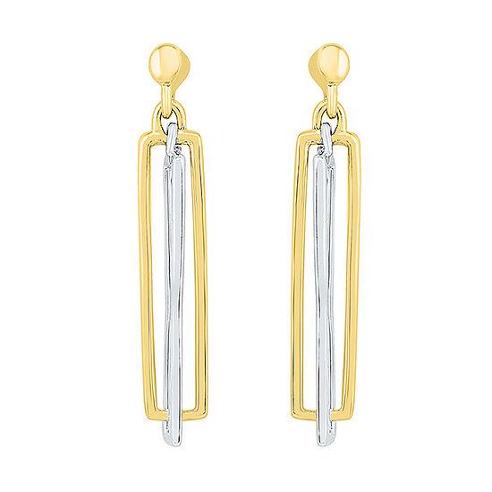 10K Two Tone Gold 30.3mm Stud Earrings