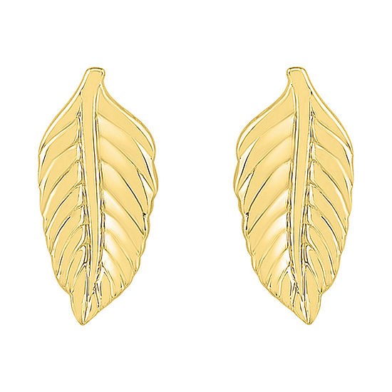 10K Gold 12.6mm Stud Earrings