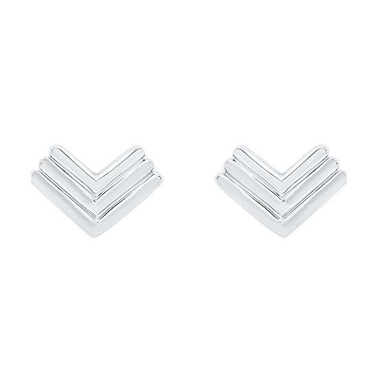 10K White Gold 8mm Stud Earrings