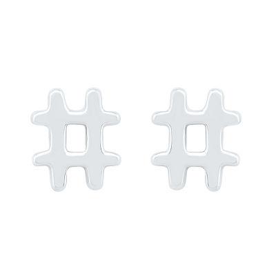 10K White Gold 7mm Stud Earrings