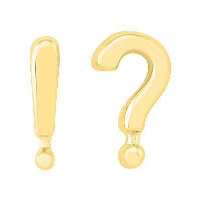 10K Gold 11mm Stud Earrings