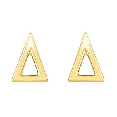 10K Gold 6.4mm Stud Earrings