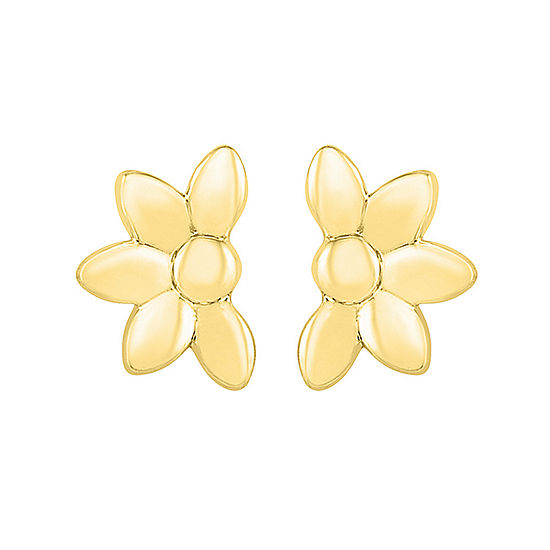10K Gold 5.1mm Pear Stud Earrings