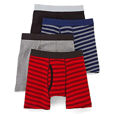 Arizona 4-pk. Striped Boxer Briefs – Boys 4-20