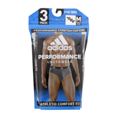 adidas 3-Pair Performance Stretch Cotton Briefs