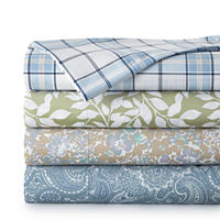 JCPenney Home 300 TC Easy Care Print Sheet Set Deals