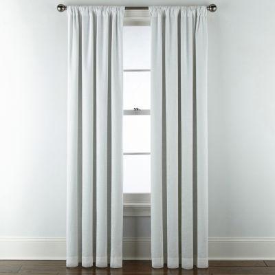 Liz Claiborne Holland Linen Blackout Rod-Pocket/ Back-Tab Curtain Panel