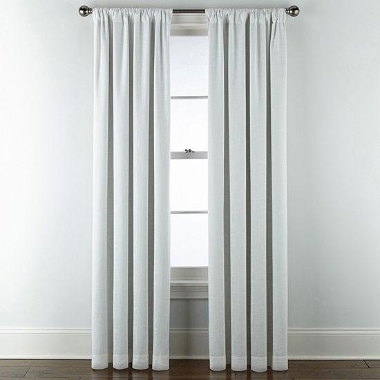Liz Claiborne Holland Linen 100% Blackout Rod-Pocket Single Curtain Panel