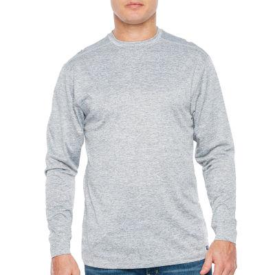 Smith Workwear Mens Crew Neck Long Sleeve Moisture Wicking T-Shirt