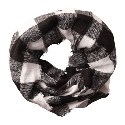 Tickled Pink Buffalo Infinity Checked Scarf