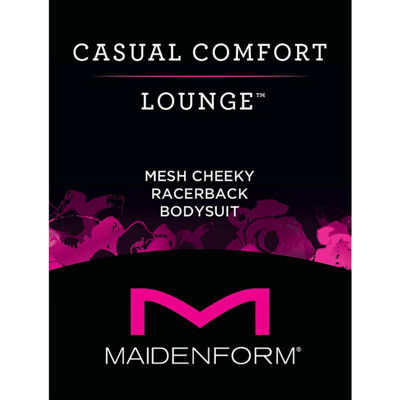 Maidenform Casual Comfort Lounge Collection Cheeky Micro Mesh Bodysuit