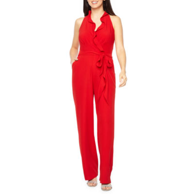 Be by CHETTA B Sleeveless Belted Jumpsuit