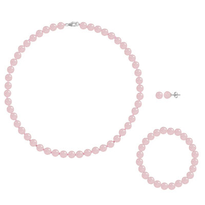 Genuine Pink Agate 3-pc. Jewelry Set