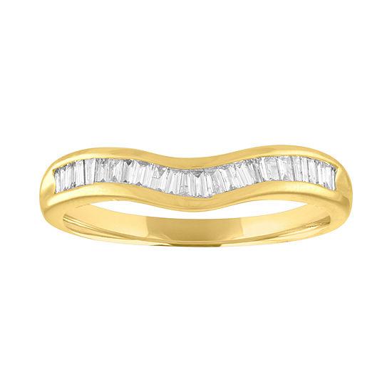 1/4 CT. T.W. Genuine White Diamond 10K Gold Band
