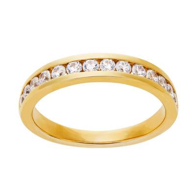 Grown With Love Womens 1/2 CT. T.W. Lab Grown White Diamond 14K Gold Round Wedding Band